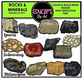 Rocks & Minerals Clip Art Bundle  {Educlips Clipart}