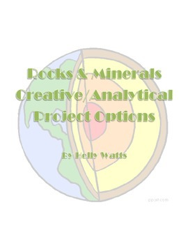 Rocks & Minerals Creative & Analytical Project Options