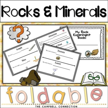 Rocks and Minerals Experiment Flip Book