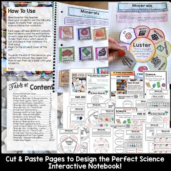 Rocks and Minerals Interactive Notebook   Distance Learning Science