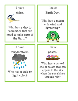 Spring Vocabulary Building Game
