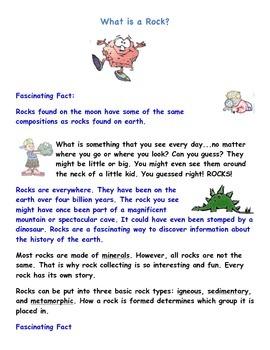 Rocks & Minerals Informational Text