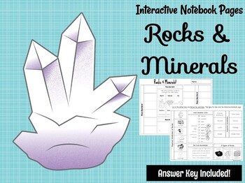 Rocks & Minerals Interactive Notebook Page  **EDITABLE**