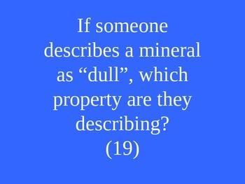 Rocks & Minerals Jeopardy