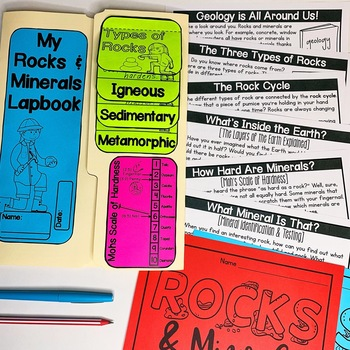 Rocks and Minerals Lapbook & Passages | Rocks and Minerals Activity | Geology