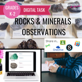 Rocks & Minerals Observations Digital Activity
