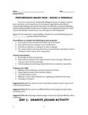 Rocks-Minerals Performance Task Activity (Claim, Counter C