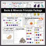 Rocks & Minerals Printable Homeschool Package
