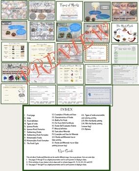 Rocks & Minerals Multiple Intelligences Project