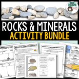 Rocks and Minerals Package - Types of Rocks, Rock Cycle, M