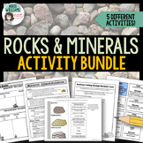 Rocks and Minerals Package - Types of Rocks, Rock Cycle, Minerals and More!