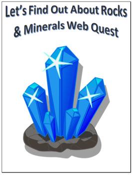 Rocks & Minerals Scavenger Hunt Science Common Core Activity 4-7