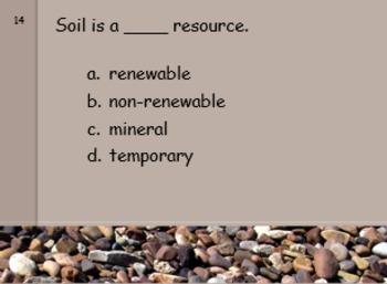 Rocks, Minerals, Soil, Fossils
