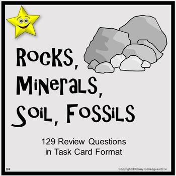 Rocks, Minerals, Soil, Fossils Task Cards
