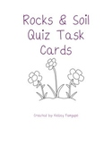 Rocks, Minerals, & Soil Quiz Task Cards (Utah Core 4th Grade)