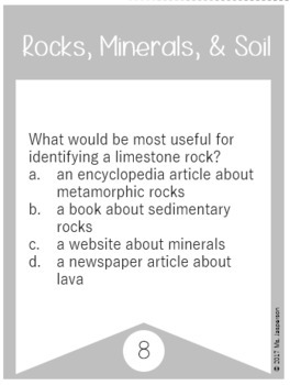 Rocks, Minerals, & Soil Task Cards