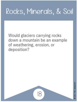 Utah 4th Grade Science Rocks Minerals and Soil Task Cards