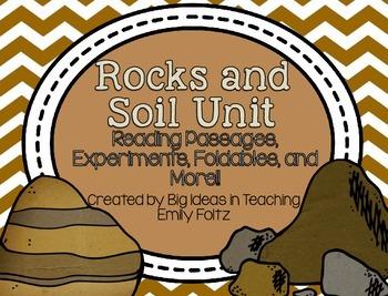 Rocks Minerals Soil Unit Passages Experiments Foldables....SUPER!!