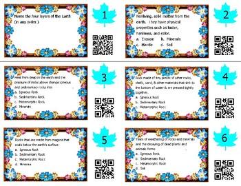 Rocks & Minerals Task Cards -- Science