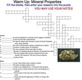 Rocks & Minerals Unit: Lesson 4: Mineral Identification In