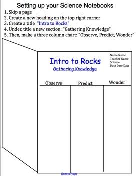Rocks & Minerals Unit: Lesson 5: Intro to Rocks