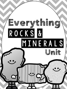 Rocks & Minerals Unit (Powerpoint, Student Notes, Test, an