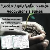 Rocks & Minerals Vocabulary Activities