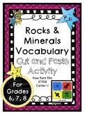 Rocks & Minerals Vocabulary Activity