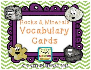 Rocks & Minerals Vocabulary Cards