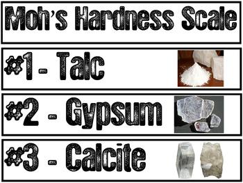 Rocks & Minerals Pocket Chart Vocabulary | EDITABLE