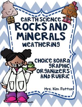 Choice Board - Rocks, Minerals & Weathering: Rubric & Grap