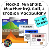 Rocks, Minerals, Weathering, Soil, & Erosion Vocabulary Posters