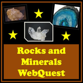 Rocks and Minerals Distance Learning Webquest Science