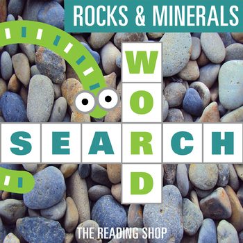 Rocks & Minerals Word Search - Primary Grades - Wordsearch Puzzle