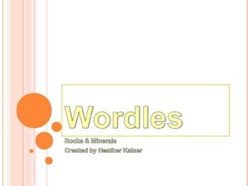 Rocks & Minerals Wordles