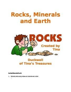 Rocks, Minerals, and Earth