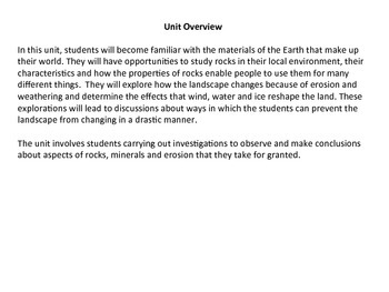 Rocks, Minerals and Erosion - Grade 4 Science Unit