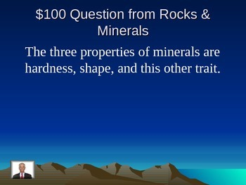 Rocks, Minerals, and Fossils Jeopardy