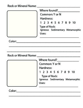 Rocks, Minerals and Fossils Science Journal