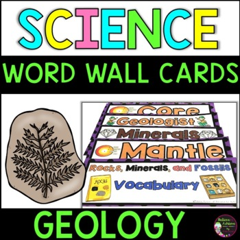 Rocks, Minerals, and Fossils  Vocabulary Cards