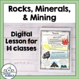 Rocks, Minerals, and Mining Lessons and Activities for Dis