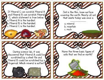 Rocks and Soils Task Cards