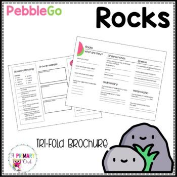 Rocks PebbleGo research brochure
