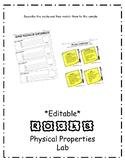 Rocks Physical Properties Lab ***EDITABLE**