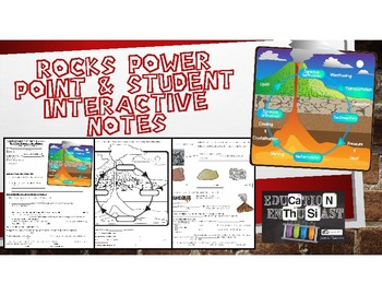Rocks Power Point and Student Interactive Notes