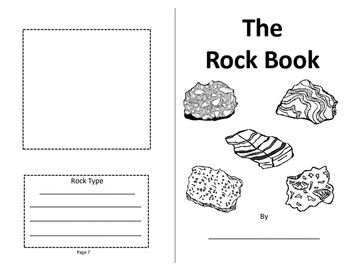 Rocks - Rock Booklet - Foldable, Color-Cut and Paste