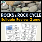 Rocks & Rock Cycle Review Activity (Editable)