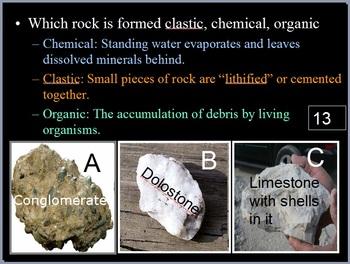 Rocks Quiz Game, Rock Cycle