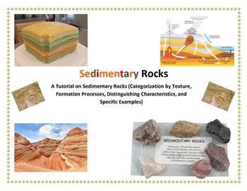 Rocks:  SEDIMENTARY Rock Type Organizer (Part of LARGER LAB)