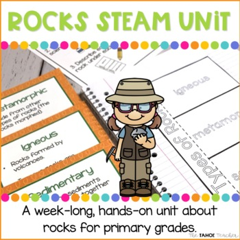 Rocks STEAM Unit   Science Centers for Primary Grades